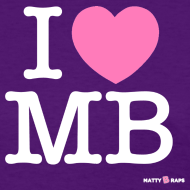 Design ~ I Heart MB Womens T-Shirt
