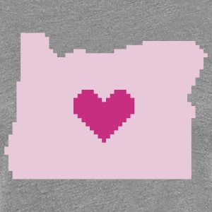 Oregon Pixel Heart - Women's Premium T-Shirt