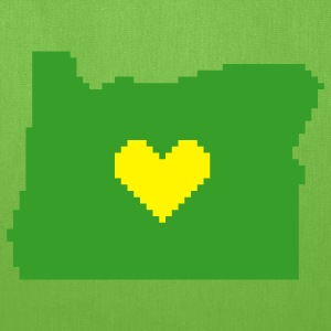 Oregon Pixel Heart Tote - Tote Bag
