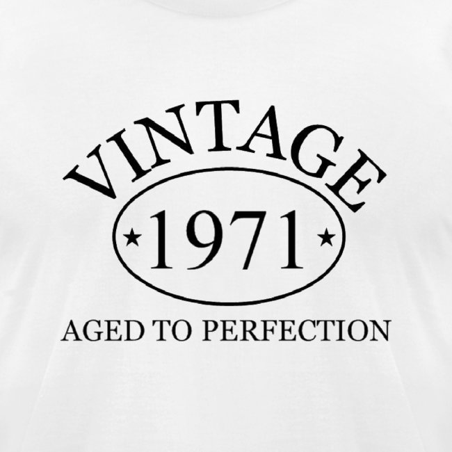 Vintage 1971 aged to perfection