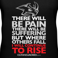 Design ~ There will be pain | CutAndJacked | Womens Tee