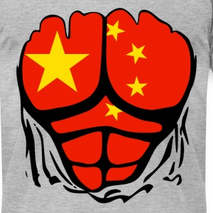 China Flag Ripped Shirt T-Shirts - Men's T-Shirt by American Apparel