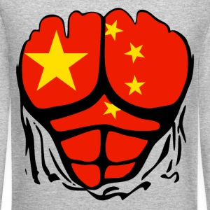 China Flag Ripped Shirt Long Sleeve Shirts - Crewneck Sweatshirt