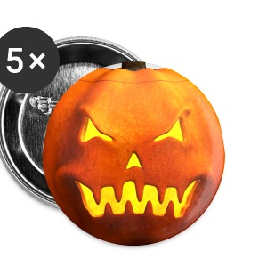 Halloween Pumpkin Face - Angry, Evil, Scary - Large Buttons