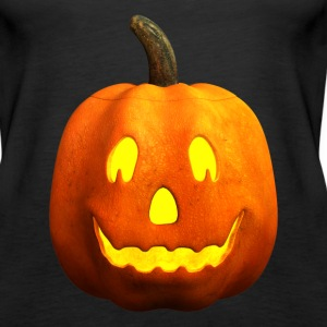 Halloween Pumpkin Face - Happy, Smiling - Women's Premium Tank Top