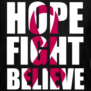 Hope Fight Believe Long Sleeve Shirts - Women's Long Sleeve Jersey T-Shirt