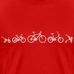 Bicycle Evolution Shirt - Men's Premium T-Shirt