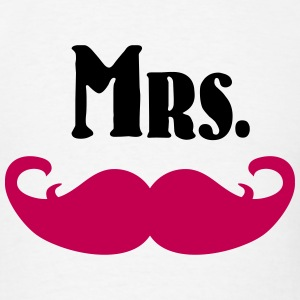 Mrs. Mustache T-Shirts - Men's T-Shirt