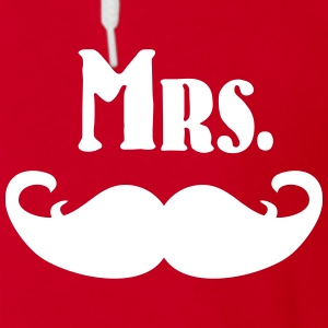 Mrs. Mustache Zip Hoodies & Jackets - Unisex Fleece Zip Hoodie by American Apparel