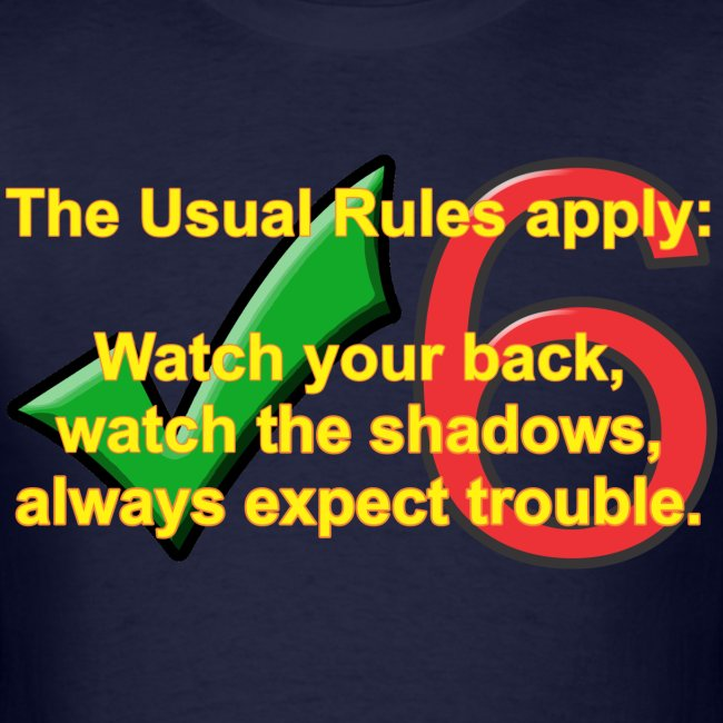 Check Six Usual Rules navy