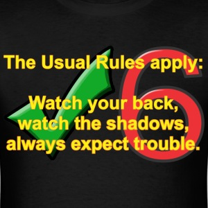 Check 6 Usual Rules T-Shirts - Men's T-Shirt