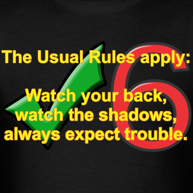 Check Six Usual Rules blk
