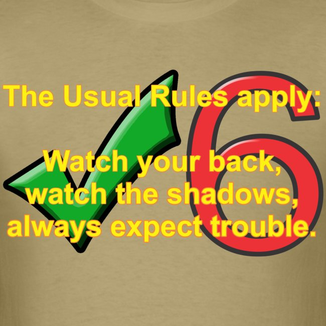 Check Six Usual Rules tan