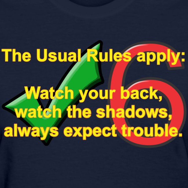 Check Six Usual Rules f navy
