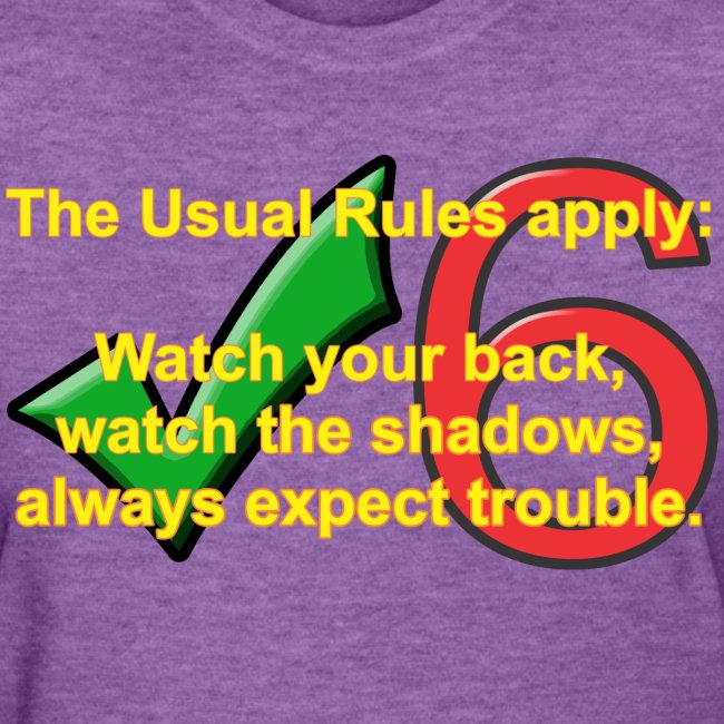 Check Six Usual Rules f gray