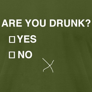 Are you drunk? T-Shirts - Men's T-Shirt by American Apparel