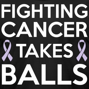 Fighting cancer takes balls T-Shirts - Men's T-Shirt by American Apparel