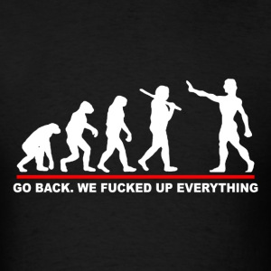 Go Back Evolution Funny - Men's T-Shirt