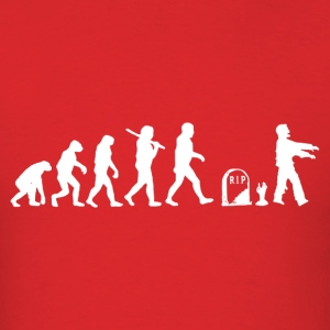 Zombie Evolution Funny - Men's T-Shirt