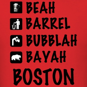 Funny Cute Boston Accent Dialect T-Shirt Shirts T T-Shirts - Men's T-Shirt
