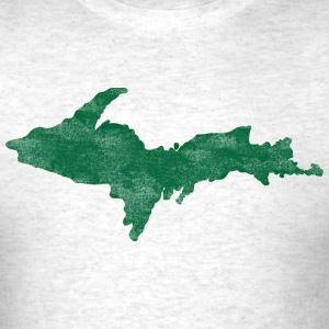 Distressed Vintage Upper Peninsula U.P. Shirts Tee T-Shirts - Men's T-Shirt