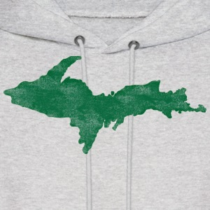 Distressed Vintage Upper Peninsula U.P. Shirts Tee Hoodies - Men's Hoodie