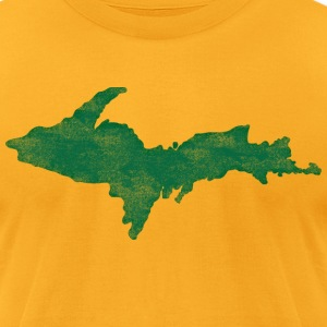 Distressed Vintage Upper Peninsula U.P. Shirts Tee T-Shirts - Men's T-Shirt by American Apparel