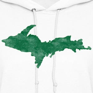 Distressed Vintage Upper Peninsula U.P. Shirts Tee Hoodies - Women's Hoodie