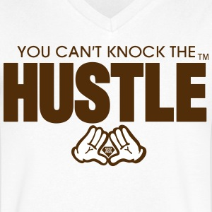 YOU CAN'T KNOCK THE HUSTLE - Men's V-Neck T-Shirt by Canvas