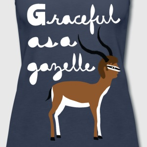 graceful as a gazelle  Tanks - Women's Premium Tank Top