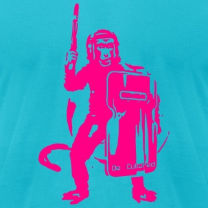 De//Cultured - Baboon Rioter - Men's Tee - Neon Pi - Men's T-Shirt by American Apparel