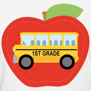 1st Grade Cute Apple Bus Women's T-Shirts - Women's T-Shirt