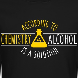 According to chemistry, alcohol IS a solution Long Sleeve Shirts - Crewneck Sweatshirt