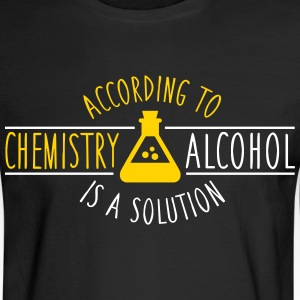 According to chemistry, alcohol IS a solution Long Sleeve Shirts - Men's Long Sleeve T-Shirt