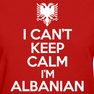 Design ~ i'm albanian Women's T-Shirts