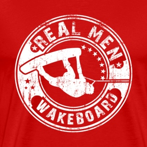 real men wakeboard T-Shirts - Men's Premium T-Shirt