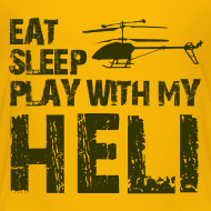 Design ~ eat sleep play heli Kids' Shirts