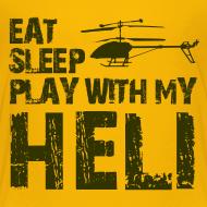 Design ~ eat sleep play heli Kids' Shirts