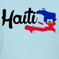 Design ~ haiti map Women's T-Shirts