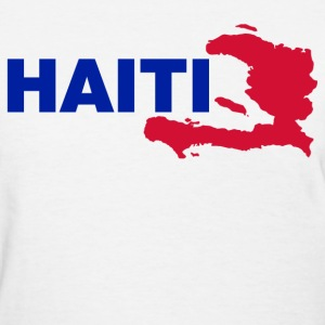 haiti map Women's T-Shirts - Women's T-Shirt