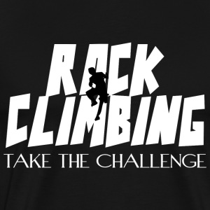 Rock Climbing Take The Challenge - Men's Premium T-Shirt