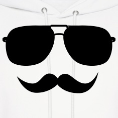 Mustache face Hoodies