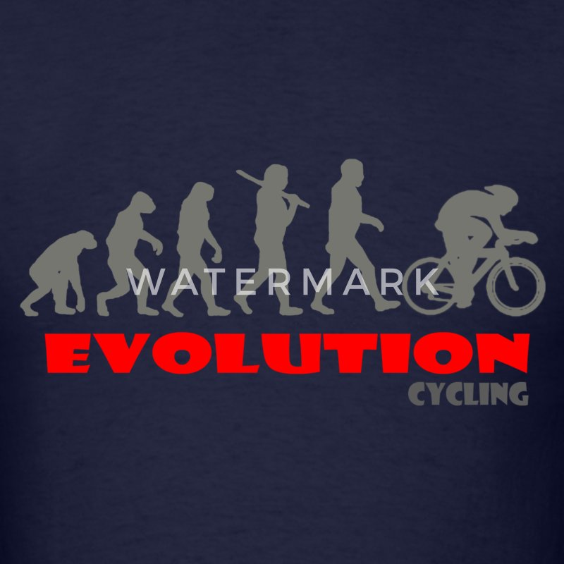 Cycling ape of Evolution Bike - Men's T-Shirt