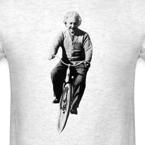 Albert Einstein on a Bike T-Shirts - Men's T-Shirt
