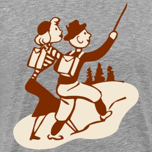 Hike Hiking Retro Vintage - Men's Premium T-Shirt