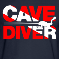 Design ~ cave diver Long Sleeve Shirts