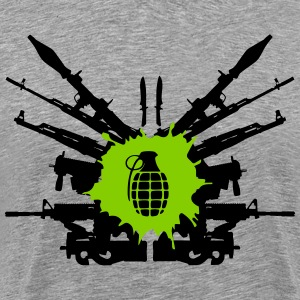 Guns Splash Art T-shirt - Men's Premium T-Shirt