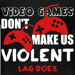 Video games don't make us violent. Lag does Kids' Shirts - Kids' Premium T-Shirt