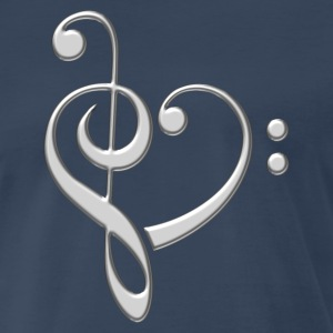 Music Note Heart, Bass, Treble, Clef, Sheet, Dance T-Shirts - Men's Premium T-Shirt