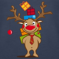 A reindeer with gifts and a Christmas ball Tanks
